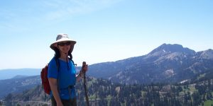 Kelly on Bumpass Hell Trail in Lassen Volcanic National Park